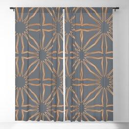 Modern Moroccan Gold criss cross Blackout Curtain
