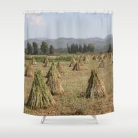 sesame street Shower Curtains featuring Sesame by taiche