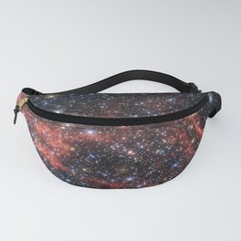 Death of a Star - Red Wispy Remains of Giant Supernova Fanny Pack