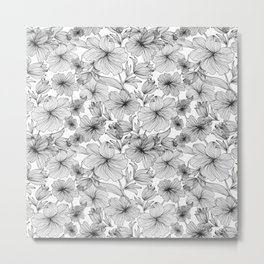 Abstract Flowers Metal Print
