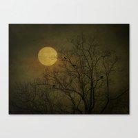 dark side Canvas Prints featuring Dark Side by RDelean