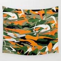camouflage Wall Tapestries featuring Abstract Camouflage by Danny Ivan