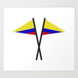colombia flag Art Print