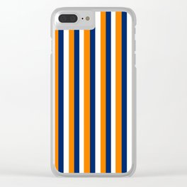 Team Colors 4... orange ,navy Clear iPhone Case