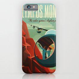 SpaceX Travel Poster: Olympus Mons, Mars iPhone Case