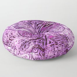 Butterfly on Orchid Magenta Floor Pillow