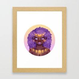Selene Framed Art Print