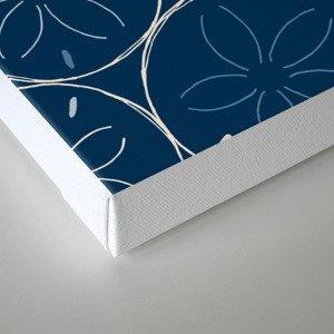 Sanddollar Pattern in Blue Canvas Print