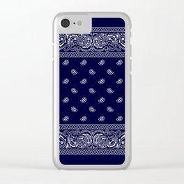 Bandana - Navy Blue - Southwestern Clear iPhone Case