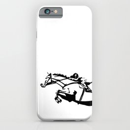 jumping horse iPhone Case