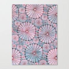 Abstract Floral Circles 3 Canvas Print