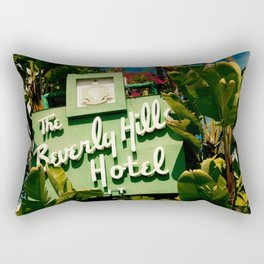 Classy Beverly Hills Hotel Mid Century Modern Neon Sign Rectangular Pillow