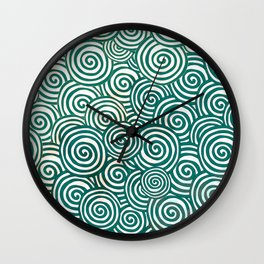Waves of life Wall Clock