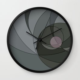 Grey Spiral Sunset Wall Clock