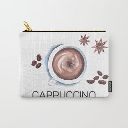 Cappuccino in Watercolor Carry-All Pouch