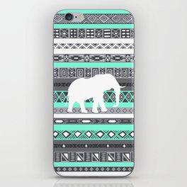 Tiffany Aztec White Elephant Pattern Design iPhone Skin