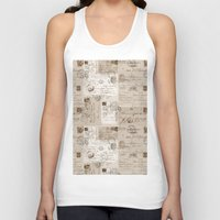 letters Tank Tops featuring Old Letters by LebensART