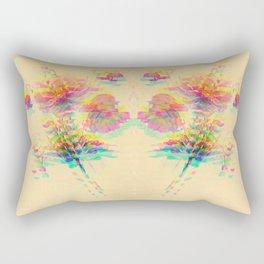 Botanical Flower Glitch Rectangular Pillow