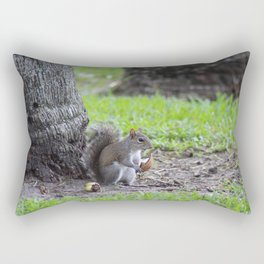 squirrel with coconut Rectangular Pillow