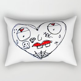 gangsta heaert Rectangular Pillow