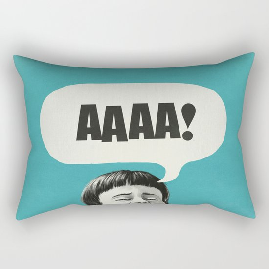 AAAA! (Blue) Rectangular Pillow
