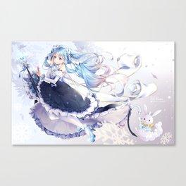 [FanArt] Snow Miku Canvas Print