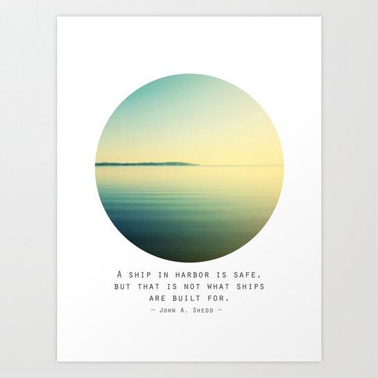 A Ship Art Print