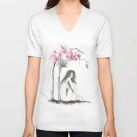zodiac V-neck T-shirts featuring Zodiac - Virgo by Simona Borstnar
