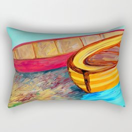 Boats in Waiting Rectangular Pillow