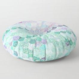 SUMMER MERMAID - CORAL MINT Floor Pillow