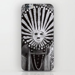 carnival mask Costume man black and white photograph iPhone Skin