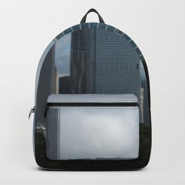 Chicago Skyline, Cloudy Day in Chicago Backpack