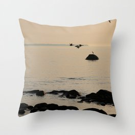 on Heron's watch Throw Pillow