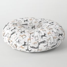The Greyhound Floor Pillow