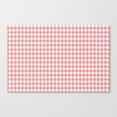 Houndstooth - Coral Canvas Print