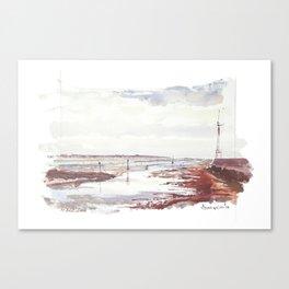Entrée du Port du Pouliguen Canvas Print