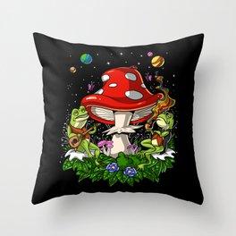 Bufo Alvarius Psychedelic Trip Throw Pillow
