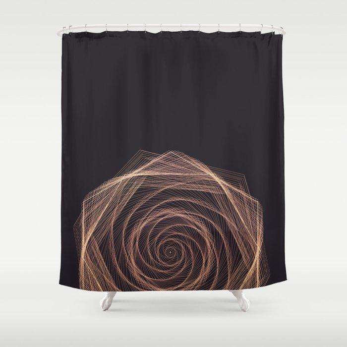 Geometric Rose Shower Curtain
