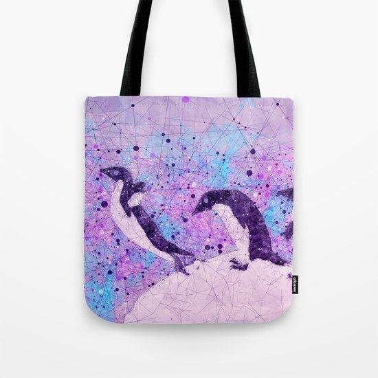 Up, Up and ahhhh Splash - Penguin Geometry Art Tote Bag