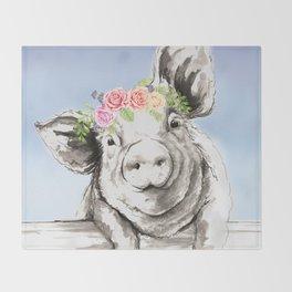 Petunia Pig Throw Blanket