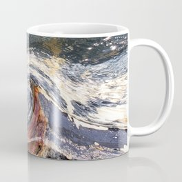 The Wave Etched in Stone Coffee Mug