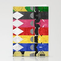 power rangers Stationery Cards featuring Mighty Morphin Power Rangers by Some_Designs