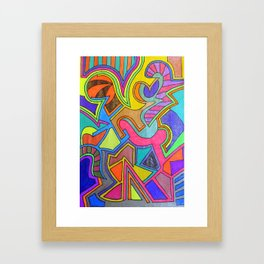 Stripes and Solids Framed Art Print