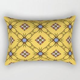 Абстрактные бесшовные модели желтого цвета для обоев и фона. Rectangular Pillow