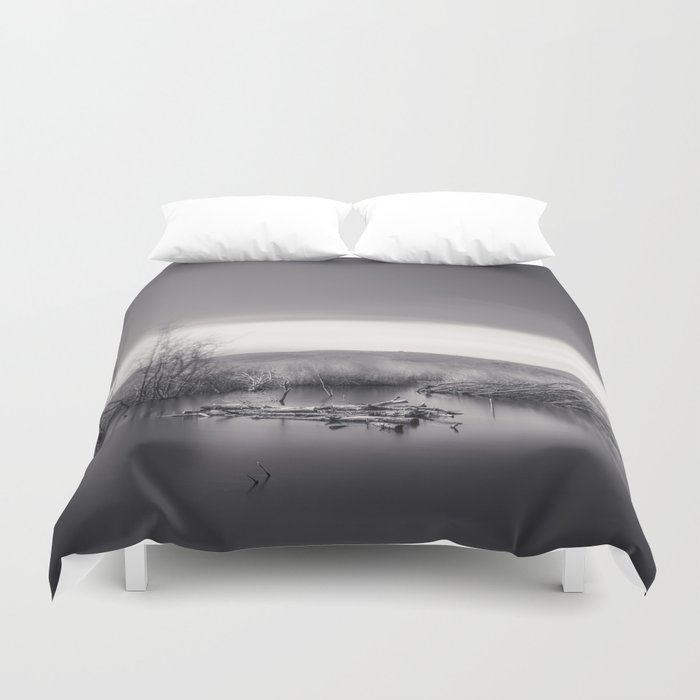 Mammoth lagoon. Monochrome Duvet Cover