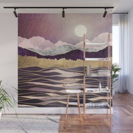 Lunar Waves Wall Mural