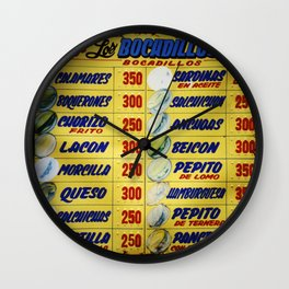 Bocadillos / Sandwiches Wall Clock
