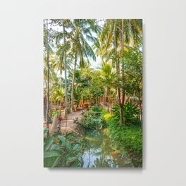 Green Amphawa, Thailand Edit Metal Print