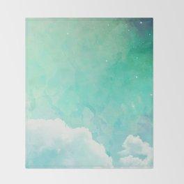 Cloud sky pattern Throw Blanket