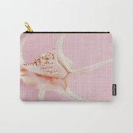 Pink Sea snail shell Carry-All Pouch